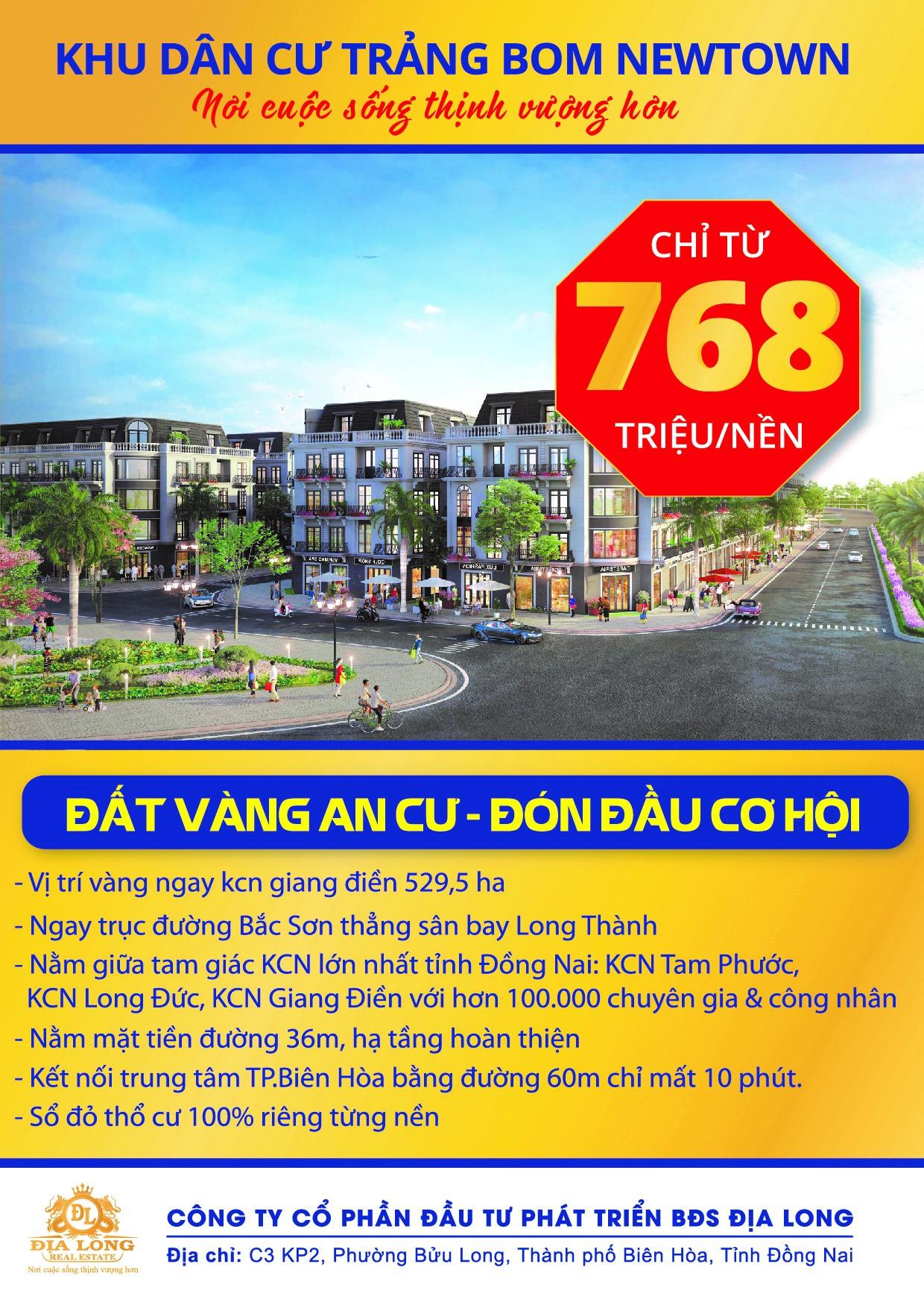 Dự án Đất Chợ KCN Giang Điền - Đất Vàng An Cư